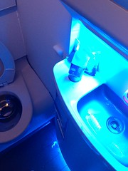 Delta new 757-200 Cabin 75H N548US Lav (delta757man) Tags: sky airplane bathroom sink interior toilet delta boeing airlines smaller 757 lav 757200 75h