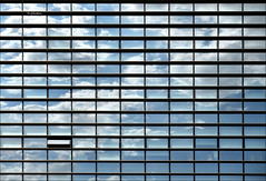 Una boccata d'aria (G.hostbuster (Gigi)) Tags: windows sky milan building clouds reflections minimal ghostbuster gigi49