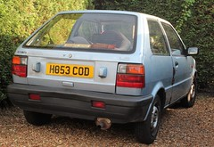 H853 COD (2) (Nivek.Old.Gold) Tags: 1990 nissan micra ls 3door 988cc county teignmouth