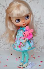 Lili in new dress