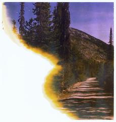 (sol exposure) Tags: twinlakes montana polaroid 195 viva expired