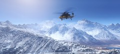 Fly high / Ghost Recon: Wildlands (Den7on) Tags: fly high ghost wildlands tom clancys ubisoft bolivia recon mountain landscape road morning snow helicopter