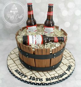 How To Make A Budweiser Bottle Cake
