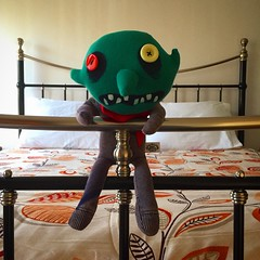 02/03/17 - He sees off the monsters that lurk under the bed. (ordinarynomore) Tags: bobby dazzler monster bed guardian