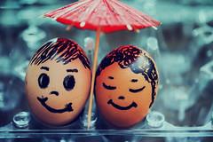 lovers (koolandgang) Tags: egg macromondays hmm nikond700 nikon105vrmicro nikonsb900 nikonsb700 umbrella