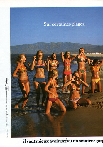 The 1970s-1974 ad for swimwear