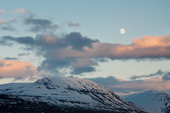 #192 - Mna (Elli Plma) Tags: sunset moon mountain clouds tungl sk fjall slsetur pad33