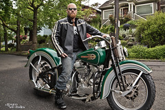 143 (Drummy ) Tags: seattle street leather bike photoshop project treasure boots badass creative harley imagination 365 find markiii drummy drumrollstudios