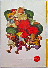 1950s Santa Claus Christmas Vintage Coca Cola Advertisement From National Geographic Back Page 56 (Christian Montone) Tags: vintage ads advertising coke americana soda cocacola advertisements sodapop vintageads vintageadvert