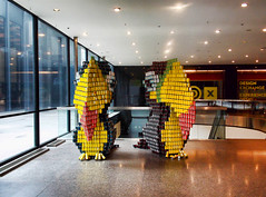 """Two Cans"" are Better than One (TownieBrit-JiverGirl) Tags: toronto art design toucan construction competition structure financialdistrict hunger baystreet foodbank downtowntoronto tdcentre designexchange canstruction twocans cansoffood nikoncoolpixl810 nickyjameson turnerfleischerarchitectsinc"