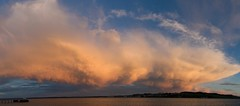 Panorama 12th June-1200x530 (Ken Bushe) Tags: sunset sky panorama cloud beach ferry pebble broughty