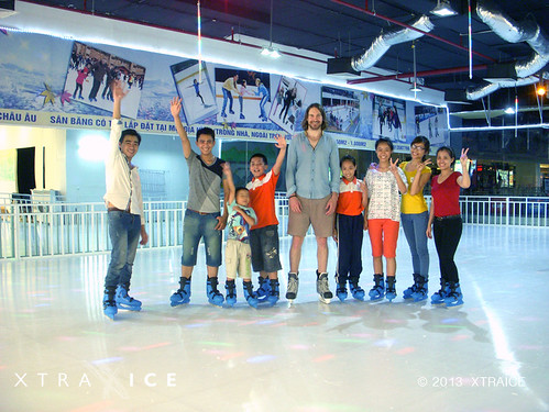 Xtraice ecological ice rink at the Savico Mall in Hanoi, Vietnam.