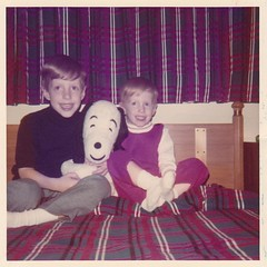 Christmas 1971 with little brother (pmonaghan) Tags: christmas childhood kids texas brother snoopy midland