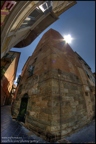 Noli Ligure, bell tower.