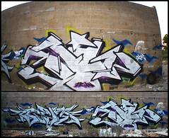 Cream - Blyw | Huelva, 2013 (BLYW de ABDT) Tags: españa de huelva graffity crew graff base krew taker bliw abdt abasedetaker blyw
