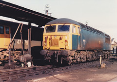 56004 47479 2nd Nov 1986 Leicester (Ian Sharman 1963) Tags: nov train grid diesel leicester engine loco class 2nd depot 1986 56 47 56004 47479