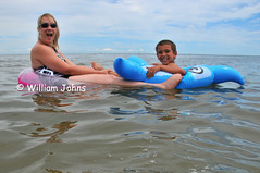 Rafting (Throwingbull) Tags: trip family beach swimming swim de fun delaware isaiah relaxation corina lewes cori qualitytime