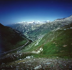 Furka pass (h_saarikoski) Tags: blue white alps green switzerland pass wallis berner furka valaise