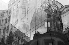 Tower (Peter Rea XIII) Tags: photographersontumblr lensblr lensbaby blackandwhite manchester urban street architecture building experimental multipleexposure nikon d300s
