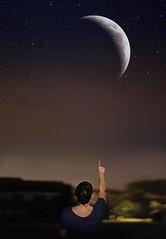 Day 362 (f a i t h o g r a p h y) Tags: light sunset summer sky moon love nature night stars nikon bokeh surrealism dream surreal galaxy dreams