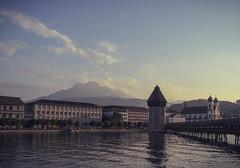 Luzern am Abend (claudiarndt) Tags: day luzern lucerne pwpartlycloudy