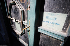 Empty Business Offices (Ivan Klindi) Tags: street door blue sky sun green abandoned work canon photography photo office key doors lock empty wide working photojournalism croatia full business story zagreb hour frame hours fullframe dust economic u