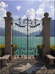Das  Tor am  Luganer  See (Ostseetroll) Tags: lake schweiz switzerland tessin see gate olympus tor lugano e620