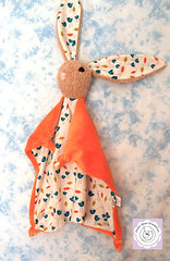 Bunny/Birds (Polar Bear Creations Dolls) Tags: bunny hase softtoy babytoy schmusetuch bunnyblanket waldorfinspired schmusehase
