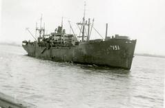 Ocean Liner (Mennonite Church USA Archives) Tags: sea ship transport vessel maritime shipping usnavy usn unitedstatesnavy trooptransport pa151 attacktransport haskellclass cmilfordpaul seagoingcowboys usslaporteapa151 usslaporte apa151