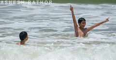 Fun in the surf (asheshr) Tags: india beach fun nikon surf pondicherry puducherry funinthesurf funinwater d5100
