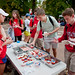 Students purchase cupcakes as a fundraiser for the Kay Yow Cancer Fund.