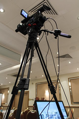 Filming on Location at a Conference (myfrozenlife) Tags: camera uk england canon video sony production conference filming recording hdcamera xdcam pmw 600d pmwex1r ex1r exr1
