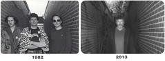 Some 31 years later... (Paul B0udreau) Tags: portrait people urban blackandwhite selfportrait toronto ontario canada film self alley nikon flash tripod samsung master alleyway oldphoto scarborough speedlight ribbet filmphotography nikkor1855mm duoimage stealingshadows sb700 d5100 samsungmaster paulboudreauphotography nikond5100