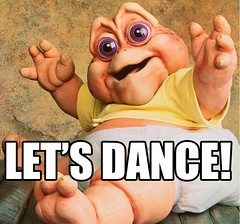 LOL Baby Sinclair - Let's Dance (Becky Haltermon Robinson) Tags: show party baby dance tv puppet lol tvshow 1990s 90s sinclair letsdance dinsaurs imthebaby loldino