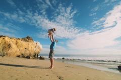 Malibu (catherinelaceyphoto) Tags: ocean family blue school boy sea sky love beach girl clouds canon children fun eos gold kid sand dad child gorgeous father joy daughter mother son bluesky malibu cliffs cirrus elmatador 5dmarkiii canon5diii