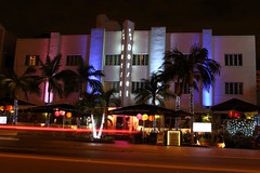 Neon (Don McCullough) Tags: club canon neon miami artdeco traffictrail t4i