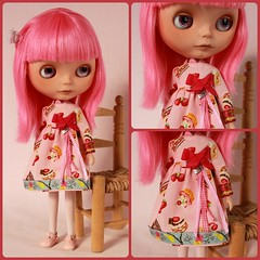 Nele wearing a Dollily Lupine dress...