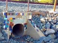 Concrete stamp numbers, Encinitas (DrachVM) Tags: 2 6 3 train concrete 1 5 4 tracks 7 8 9 stamp numbers coaster encinitas 1943 drainage swamis whodidthis concretestamp colorvibefilter