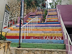 And one more rainbow staircase (VillaRhapsody) Tags: colors stone town rainbow stair steps staircase kalkan challengeyouwinner
