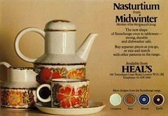 Magazine Advert for 'Nasturtium' by Midwinter Pottery (robmcrorie) Tags: coffee roy jessie ceramic design pattern pot trent advert pottery staffordshire stoke nasturtium midwinter potteries tait