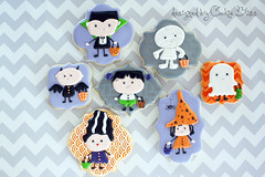 Halloween (Cookie Bliss (Laurie)) Tags: halloween cookies cookie witch vampire or ghost sugar frankenstein treat tick mummy bliss mrs decorated treaters