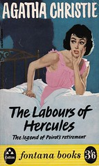Agatha Christie - The Labours of Hercules (ortokur01) Tags: girl danger cover christie distress fontana hercules agatha 1963 poirot detective agathachristie herculepoirot