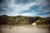 , (Benedetta Falugi) Tags: summer sky woman man green film beach yellow analog walking fuji superia analogue 400iso 22mm eximus benedettafalugi wwwbenedettafalugicom