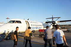 tiny propeller plane from Zurich to Lugano