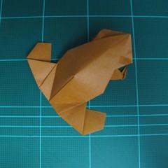 วิธีการพับกระดาษเป็นรูปกบ (แบบโคลัมเบี้ยน) (Origami Frog) 049