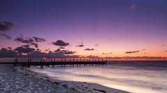 First Lights of a New Day. (dasanes77) Tags: longexposure blue sea sky sunrise dawn lights hour canonef24105mmf4lisusm canoneos6d mygearandme