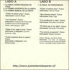 Cassete editado en el año 1980 para la enseñanza de la cueca, danza nacional de Chile