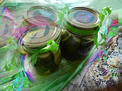 a GIFT of pickles (gailpiland) Tags: stilllife green gift pickles photoart hypothetical thegalaxy theperfectphotographer gailpiland ringexcellence