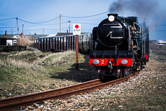 Northern Chief - RHDR (KT Photography.) Tags: 2 lighthouse train coast boat kent fishing shingle pebbles steam rails dungeness nets derelict powerstation boasts romneyhythedymchurchrailway northernchief