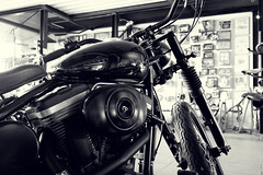 Gibson's Motorcycles (manuel ek) Tags: old school shop ride sweet garage dream documentary police special mc repair harleydavidson gibsons ape motorcycle hd wish build hanger bobber s